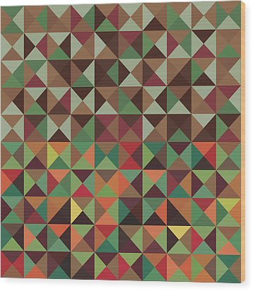 Geometric Pattern Wood Print by Mike Taylor