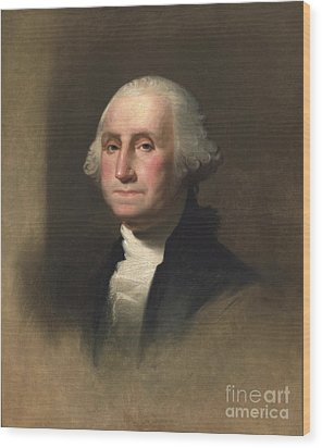 George Washington Wood Print by Rembrandt Peale