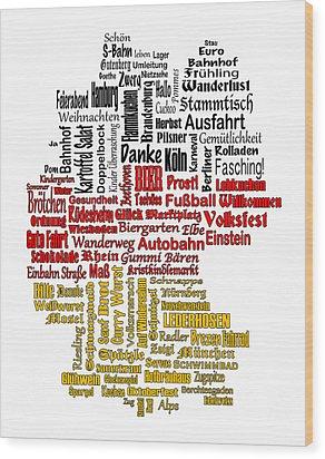 Germany Map Wood Print