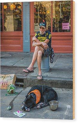 Gettin' By In New Orleans Wood Print by Steve Harrington