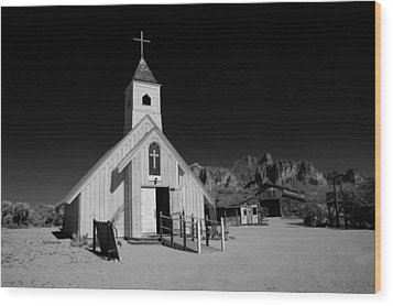 Ghost Town Church Wood Print by Wendell Thompson