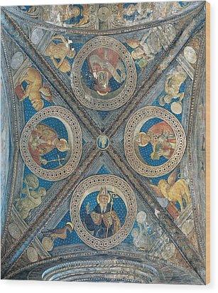 Giovan Pietro Da Cemmo, St Ambrose, St Wood Print by Everett