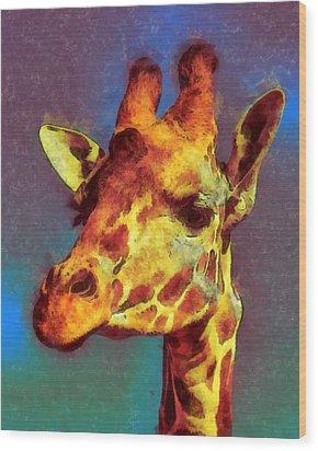 Giraffe Abstract Wood Print