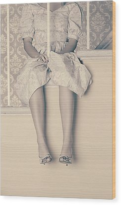Girl On Steps Wood Print by Joana Kruse