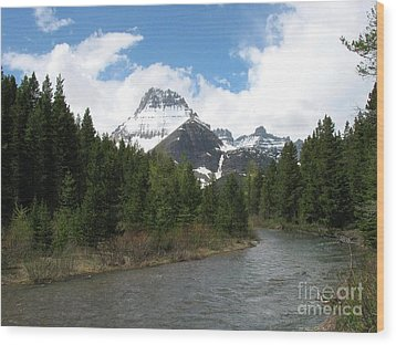 Glacier National Park Wood Print by Russell Christie