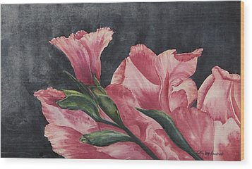 Wood Print featuring the painting Glad To Be Alive by Cathy Long