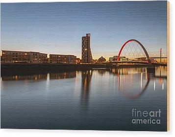 Glasgow Clyde Arc  Wood Print by John Farnan