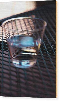 Glass Half Full Wood Print by David Patterson