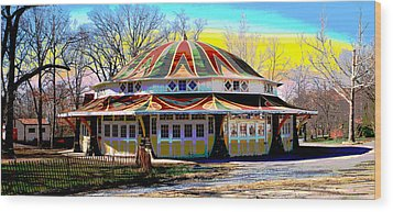 Glen Echo Park Wood Print
