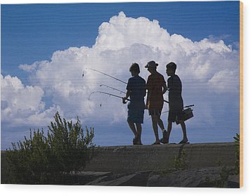 Going Fishing Wood Print by Randall Nyhof