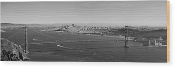 Golden Gate Bridge Panorama Wood Print by Twenty Two North Photography