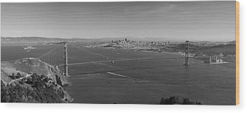 Golden Gate Bridge Wood Print by Twenty Two North Photography