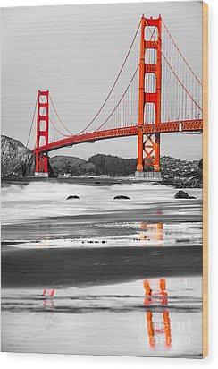 Golden Gate - San Francisco - California - Usa Wood Print by Luciano Mortula