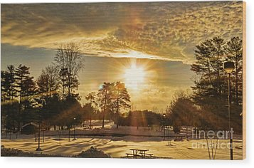 Wood Print featuring the photograph Golden Sunset by Brenda Bostic
