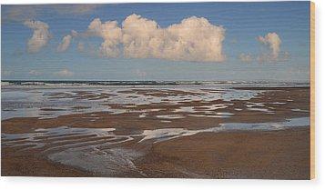 Gowlane Beach Wood Print by Barbara Walsh