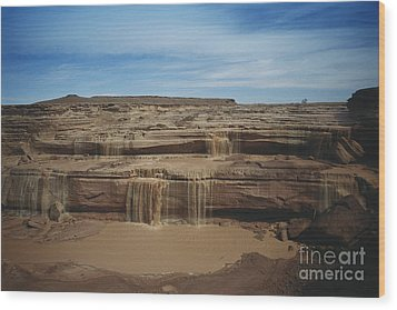 Grand Falls Of The Little Colorado Wood Print by Mark Newman