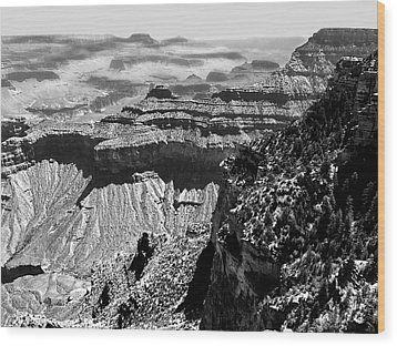 Grand View Wood Print by Camille Lopez