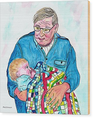 Grandpas Bundle Of Joy Wood Print