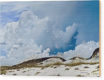 Grayton Beach Wood Print by Rick McKinney