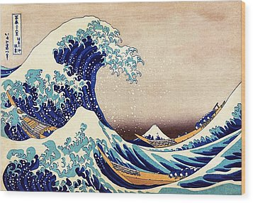 Great Wave Off Kanagawa Wood Print