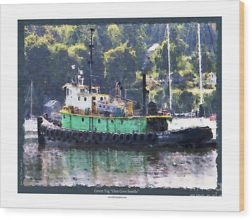 Wood Print featuring the photograph Green Tug by Kenneth De Tore