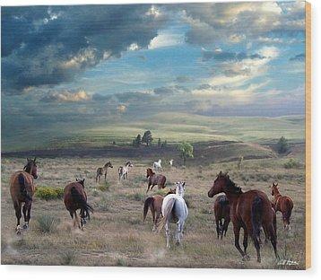 Greener Pastures Wood Print by Bill Stephens