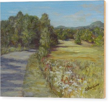 Wood Print featuring the painting Greenville Road by Sandra Nardone