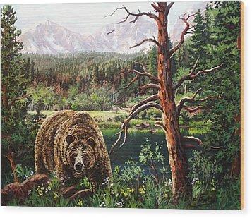 Grizzley Wood Print by W  Scott Fenton