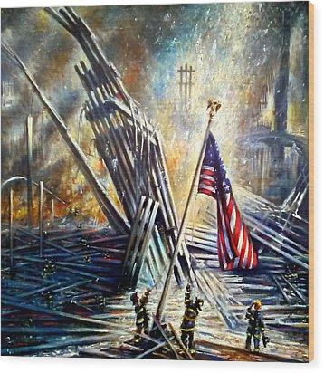 Ground Zero 911  Wood Print