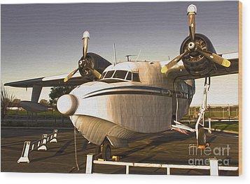 Grumman G-64 Albatross Uh16 Wood Print by Gregory Dyer