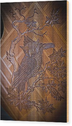 Wood Print featuring the photograph Guitar Carving - Bali by Matthew Onheiber