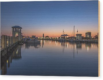 Gulfport Harbor Wood Print by Brian Wright