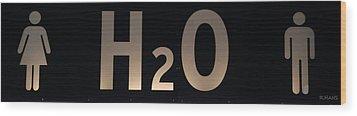 H2O Wood Print by Rob Hans