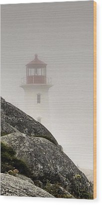 Halifax Fog Wood Print
