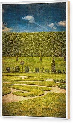 Hampton Court 'the Privy Garden Wood Print