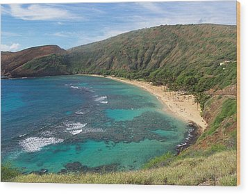 Hanauma Bay Oahu Hawaii Wood Print