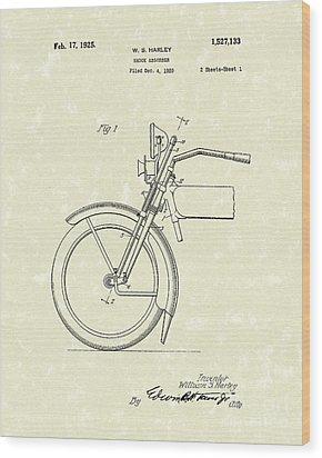 Harley Absorber 1925 Patent Art Wood Print by Prior Art Design
