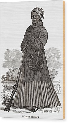Harriet Tubman, American Abolitionist Wood Print by Photo Researchers