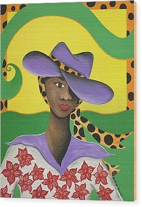 Hat Appeal Wood Print by Patricia Sabree