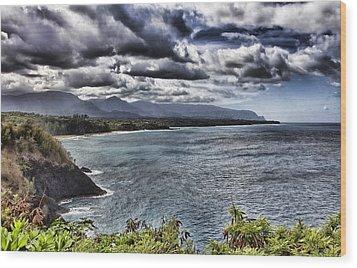 Hawaii Big Island Coastline V2 Wood Print by Douglas Barnard