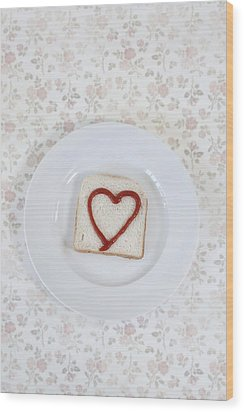 Hearty Toast Wood Print by Joana Kruse