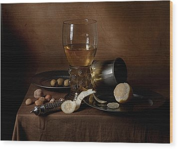 Wood Print featuring the photograph Heda - Still Life 1632 by Levin Rodriguez