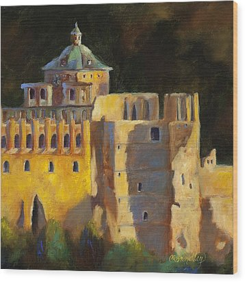 Heidelberg Schloss Wood Print by Chris Brandley