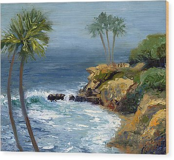 Heisler Park Wood Print by Alice Leggett