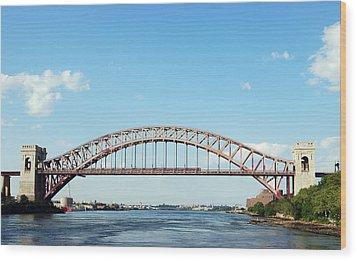Hell Gate Bridge Wood Print by Jim Poulos