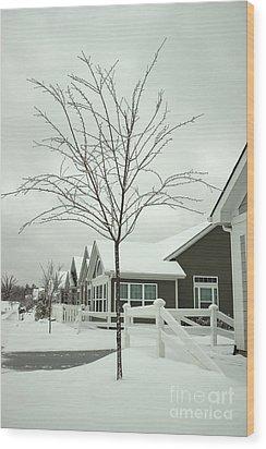 Hello Snow Wood Print