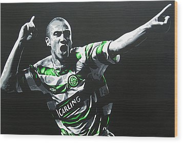 Henrik Larsson - Celtic Fc Wood Print