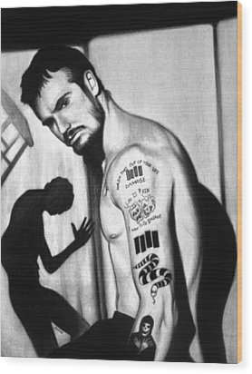 Henry Rollins Wood Print