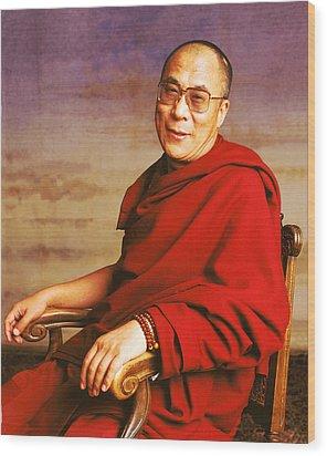 H.h. Dalai Lama Wood Print