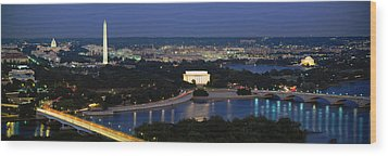 High Angle View Of A City, Washington Wood Print by Panoramic Images